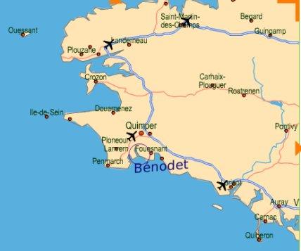 Gites de Bénodet, hébergement près de la thalasso de Benodet